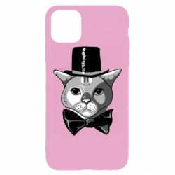 Чохол для iPhone 11 Pro Max Black and white cat intellectual