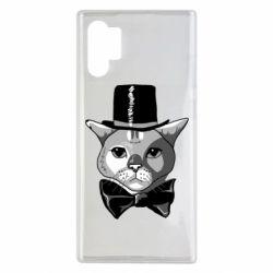 Чохол для Samsung Note 10 Plus Black and white cat intellectual