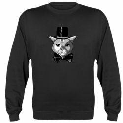 Реглан (світшот) Black and white cat intellectual