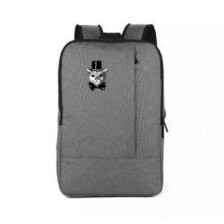 Рюкзак для ноутбука Black and white cat intellectual