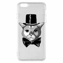 Чохол для iPhone 6 Plus/6S Plus Black and white cat intellectual