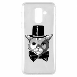 Чохол для Samsung A6+ 2018 Black and white cat intellectual
