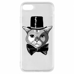 Чохол для iPhone 8 Black and white cat intellectual