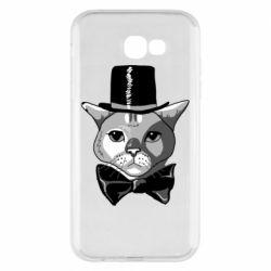 Чохол для Samsung A7 2017 Black and white cat intellectual