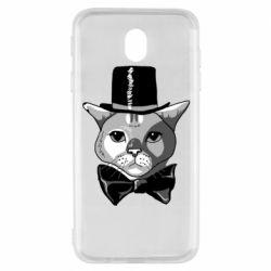 Чохол для Samsung J7 2017 Black and white cat intellectual