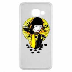 Чехол для Samsung A3 2016 Black and yellow clown