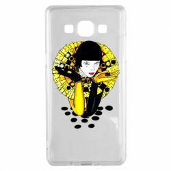 Чехол для Samsung A5 2015 Black and yellow clown