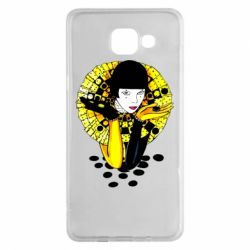 Чехол для Samsung A5 2016 Black and yellow clown