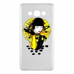 Чехол для Samsung A7 2015 Black and yellow clown