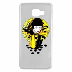 Чехол для Samsung A7 2016 Black and yellow clown