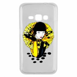 Чехол для Samsung J1 2016 Black and yellow clown