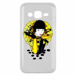 Чехол для Samsung J2 2015 Black and yellow clown