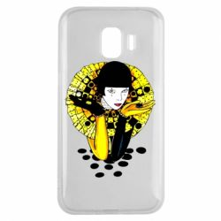 Чехол для Samsung J2 2018 Black and yellow clown