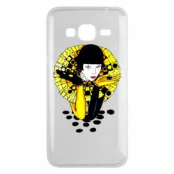 Чехол для Samsung J3 2016 Black and yellow clown