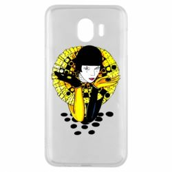 Чехол для Samsung J4 Black and yellow clown