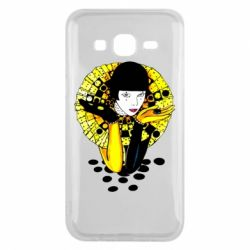 Чехол для Samsung J5 2015 Black and yellow clown