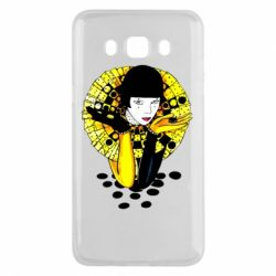 Чехол для Samsung J5 2016 Black and yellow clown