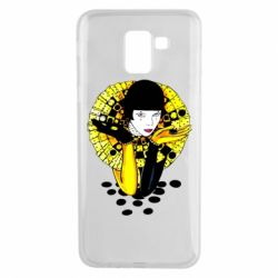 Чехол для Samsung J6 Black and yellow clown