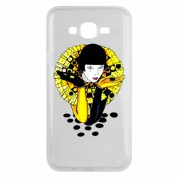 Чехол для Samsung J7 2015 Black and yellow clown