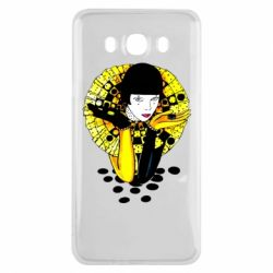 Чехол для Samsung J7 2016 Black and yellow clown