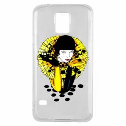 Чехол для Samsung S5 Black and yellow clown