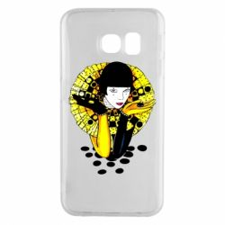Чехол для Samsung S6 EDGE Black and yellow clown