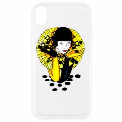 Чехол для iPhone XR Black and yellow clown