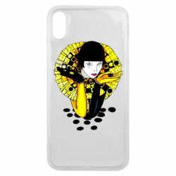 Чехол для iPhone Xs Max Black and yellow clown