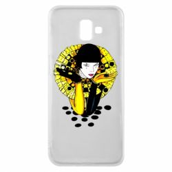 Чехол для Samsung J6 Plus 2018 Black and yellow clown