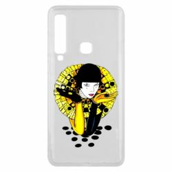 Чехол для Samsung A9 2018 Black and yellow clown