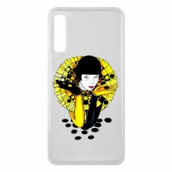 Чехол для Samsung A7 2018 Black and yellow clown