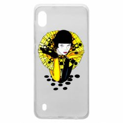 Чехол для Samsung A10 Black and yellow clown