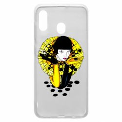 Чехол для Samsung A30 Black and yellow clown