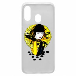 Чехол для Samsung A40 Black and yellow clown