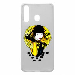Чехол для Samsung A60 Black and yellow clown