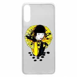Чехол для Samsung A70 Black and yellow clown
