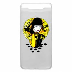 Чехол для Samsung A80 Black and yellow clown