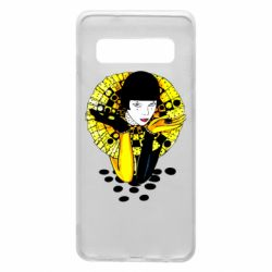 Чехол для Samsung S10 Black and yellow clown