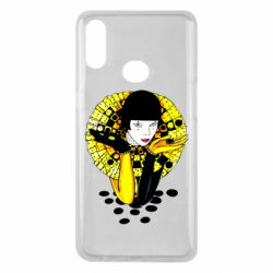 Чехол для Samsung A10s Black and yellow clown