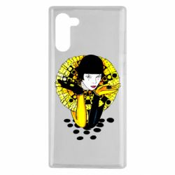 Чехол для Samsung Note 10 Black and yellow clown
