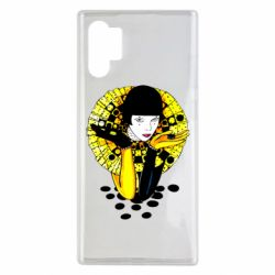 Чехол для Samsung Note 10 Plus Black and yellow clown