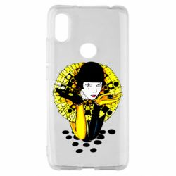 Чехол для Xiaomi Redmi S2 Black and yellow clown