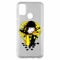 Чехол для Samsung M30s Black and yellow clown
