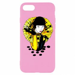 Чехол для iPhone 7 Black and yellow clown