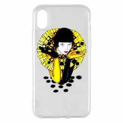 Чехол для iPhone X/Xs Black and yellow clown