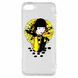 Чехол для iPhone5/5S/SE Black and yellow clown