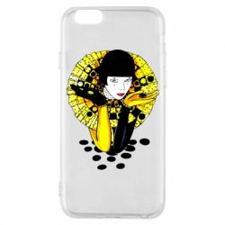 Чехол для iPhone 6/6S Black and yellow clown