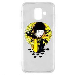 Чехол для Samsung A6 2018 Black and yellow clown