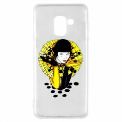 Чехол для Samsung A8 2018 Black and yellow clown