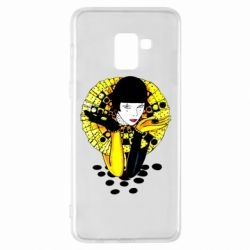 Чехол для Samsung A8+ 2018 Black and yellow clown
